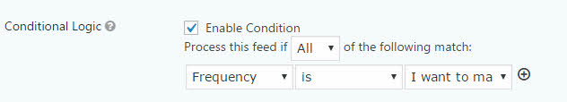 Conditional logic in Feed settings to set up your donation form in wordpress